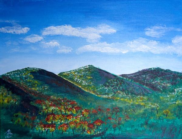 Sparkling Hills - 14 x 18 inches, approx, original