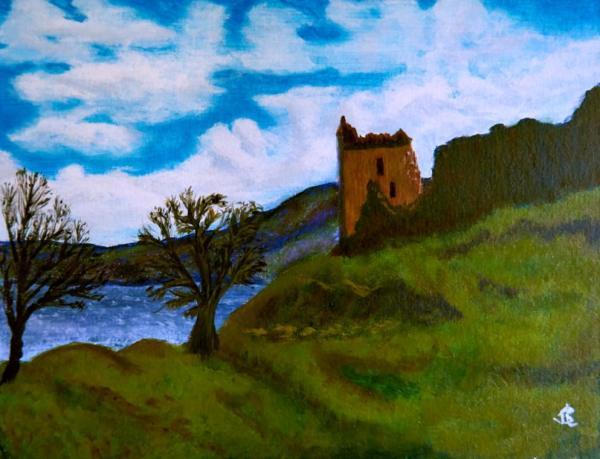 Castle Rock - 14 x 18 inches, approx, original
