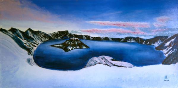 Arctic Circle - 12 x 24 inches, approx, original