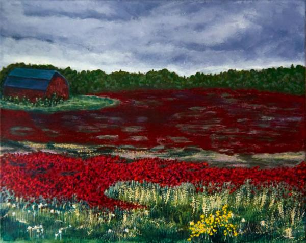 Poppy Field - 18 x 22 inches, framed