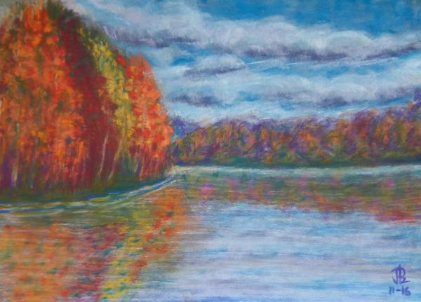 Autumn Reflections - 11 x 16 inches, approx, original