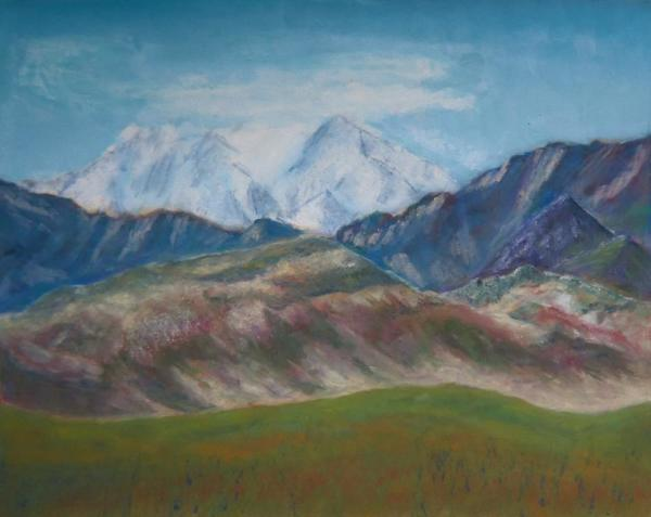 For Purple Mountain Majesty - 13 x 16 inches, approx, original