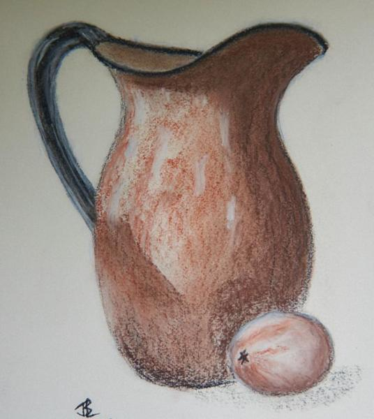 Lemon Pitcher - 11 x 16 inches, approx, original