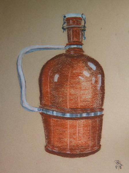 Brown Growler - 15 x 19 inches, approx, original