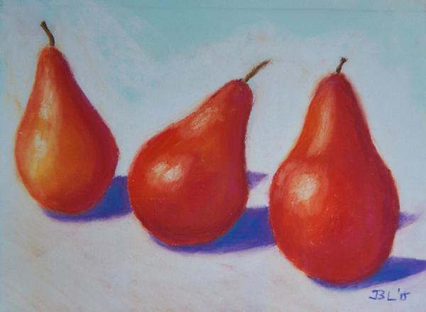 Crimson Pears - 9 x 11 inches, approx, original