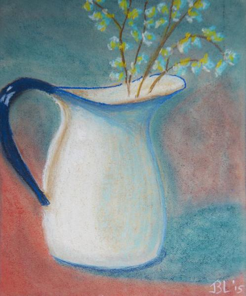 Spring Sprig Pitcher - 10 x 13 inches, approx, original