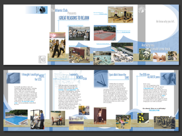Atlantic Club Quad-Fold Brochure • Manasquan, NJ