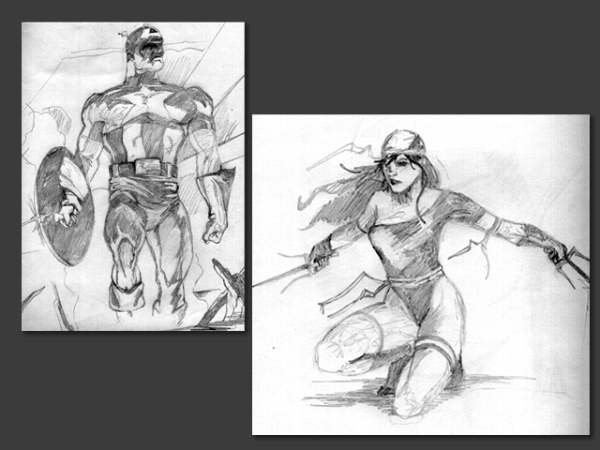 Comic Book Sketches