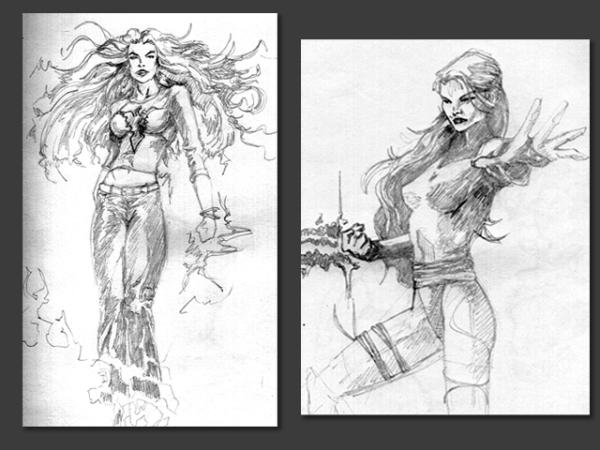 Various Comic Book Sketches