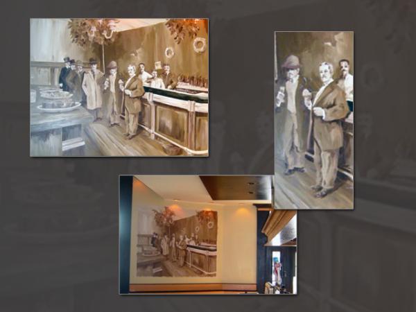 Long Beach, NY 1880s Bar Scene