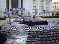 Audio, Staging, Decor - Campaign Stop, Oakland California