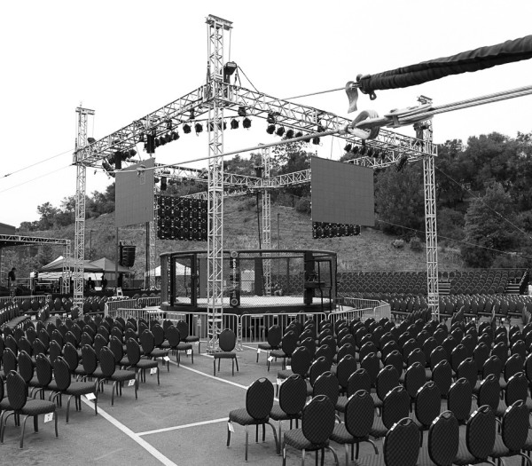 Truss Frame and LED Wall, GKO MMA Fight Night - Jackson Rancheria California