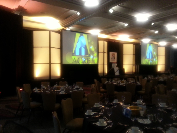 Plexiglass Light Walls, Projection Screens and Lighting - Hyatt Regency Sacramento