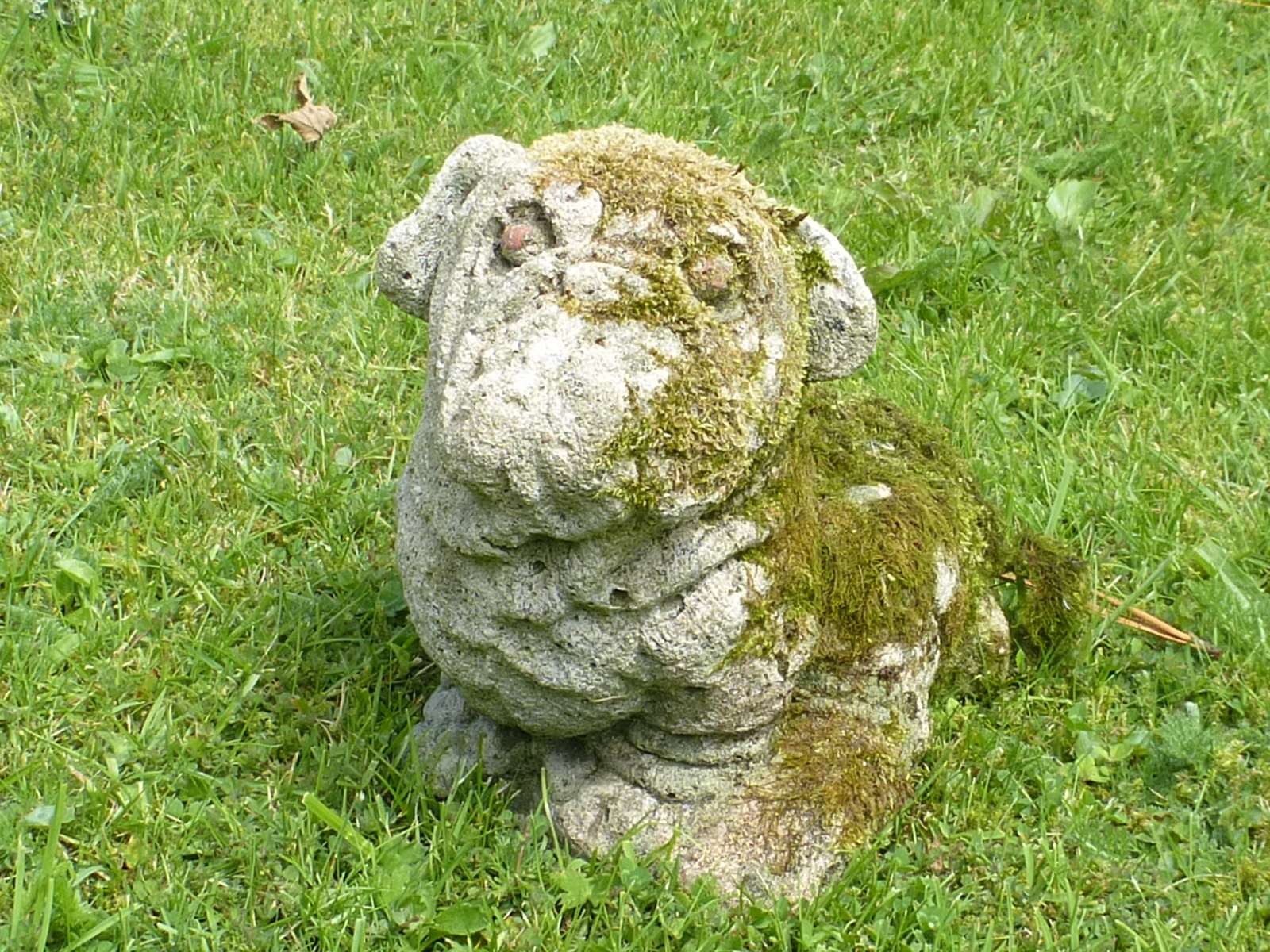 Redruth Cornwall Garden Statue Garden Ornament cast stone dog cat owl fox animal used pre-owned secondhand