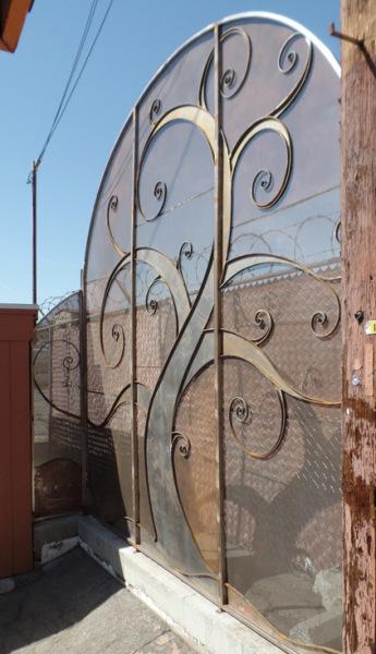 Artistic steel fence.