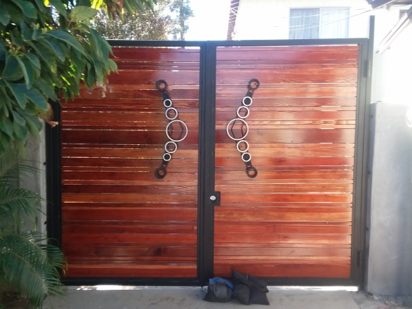Redwood and Steel Gate