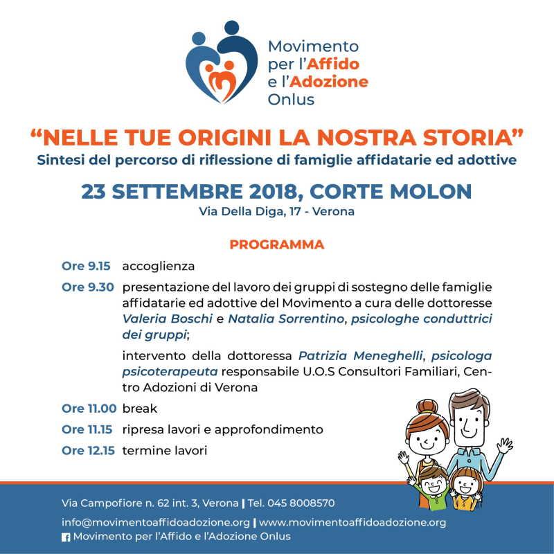 """23/09/2018 CONVEGNO """"NELLE TUE ORIGINI LA NOSTRA STORIA"""""""