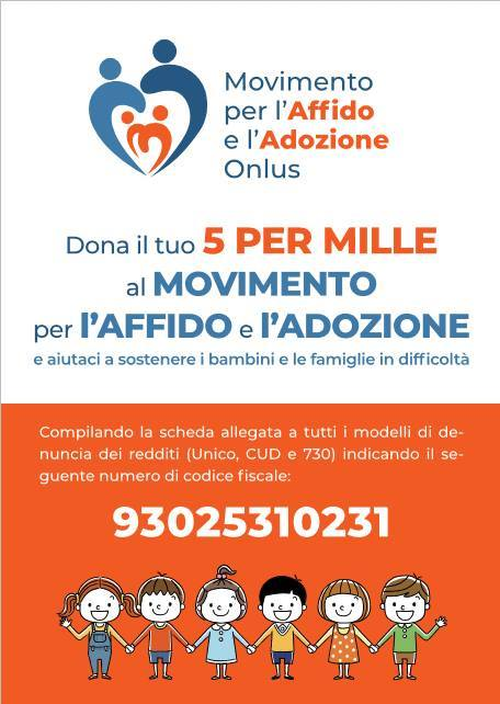 10/04/2019 DONA ANCHE TU IL TUO 5 PER 1000 AL MOVIMENTO