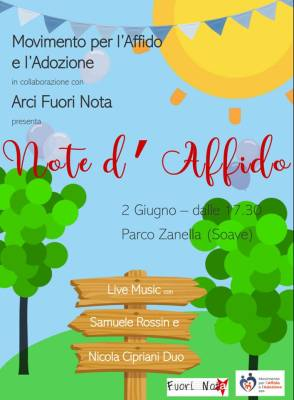 "18/05/2019 INVITO ALL'EVENTO ""NOTE DI AFFIDO"" DEL 2 GIUGNO"