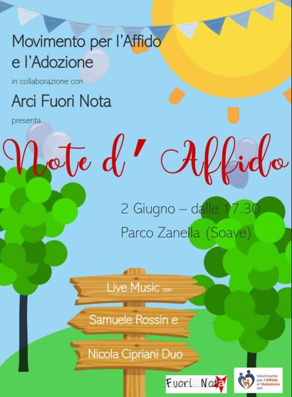 """18/05/2019 INVITO ALL'EVENTO """"NOTE DI AFFIDO"""" DEL 2 GIUGNO"""