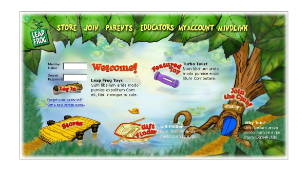 Photoshop Illustration - Leapfrog Toys Website