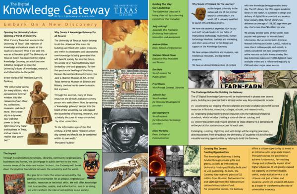 Publication Design - Brochure - University of Texas at Austin