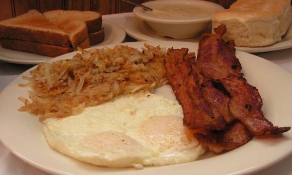 Eggs & Bacon Breakfast Plate