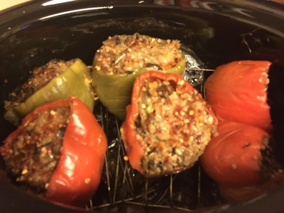 Mushroom Rice Bell Peppers