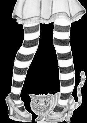 Alice Legs with Cat