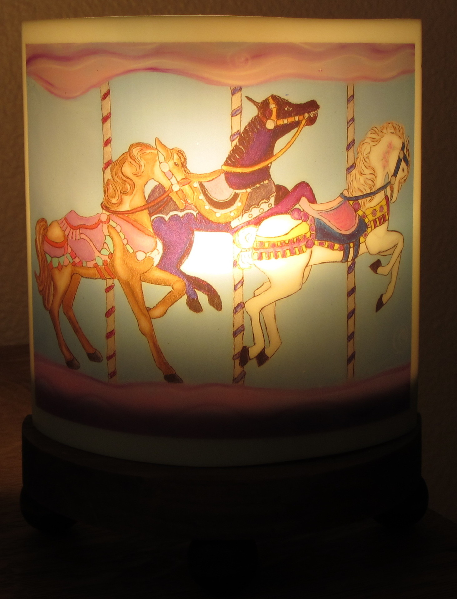 Nightlight Carousel with light on