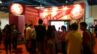 First version Fitgo Smoothie machine in MIRF Expo
