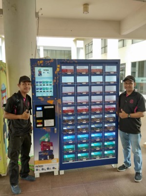A4 paper vending machine at Setia Walk Puchong