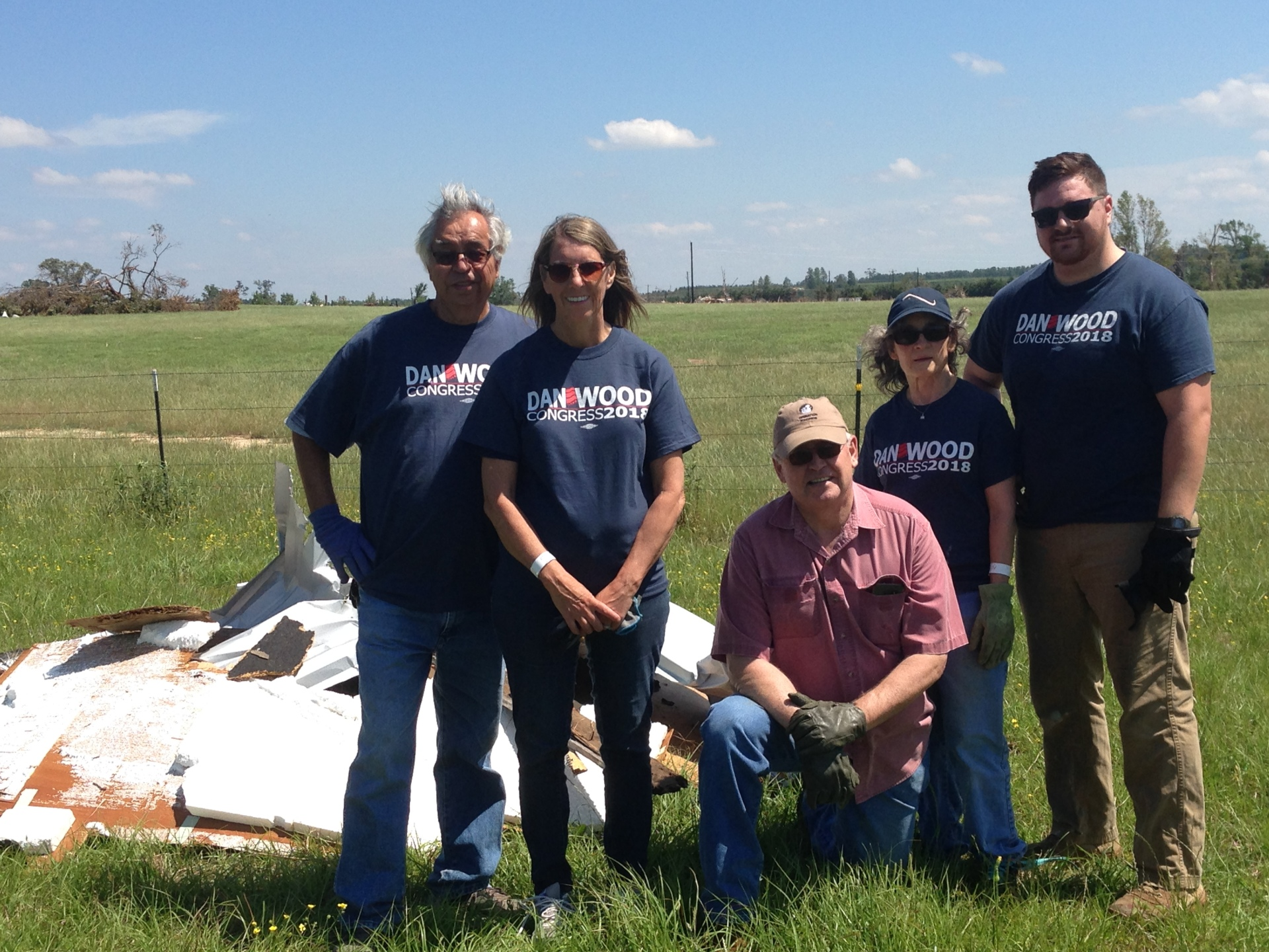 Volunteering for VanZandt tornado cleanup