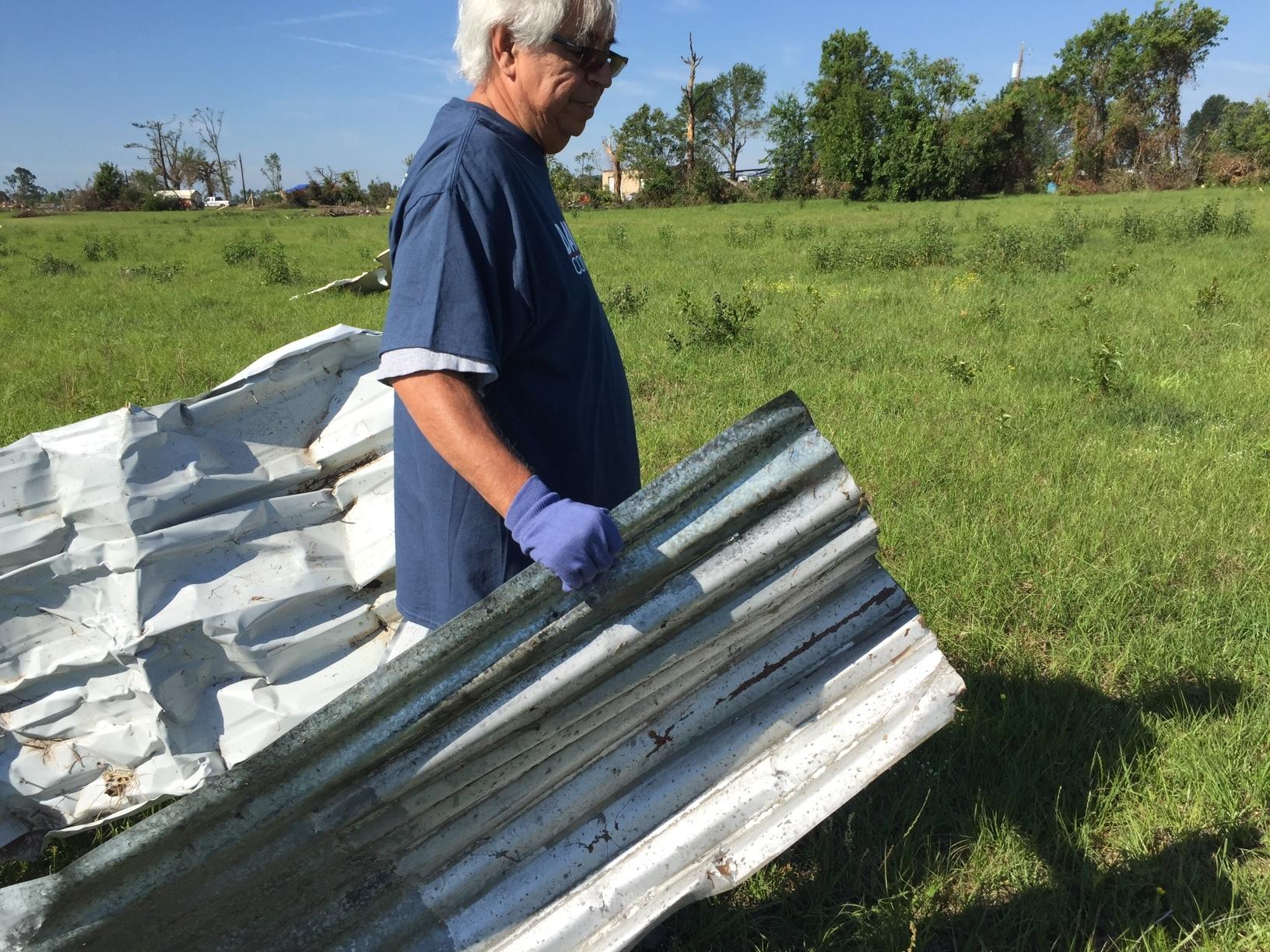 Volunteering for VanZandt tornado cleanup