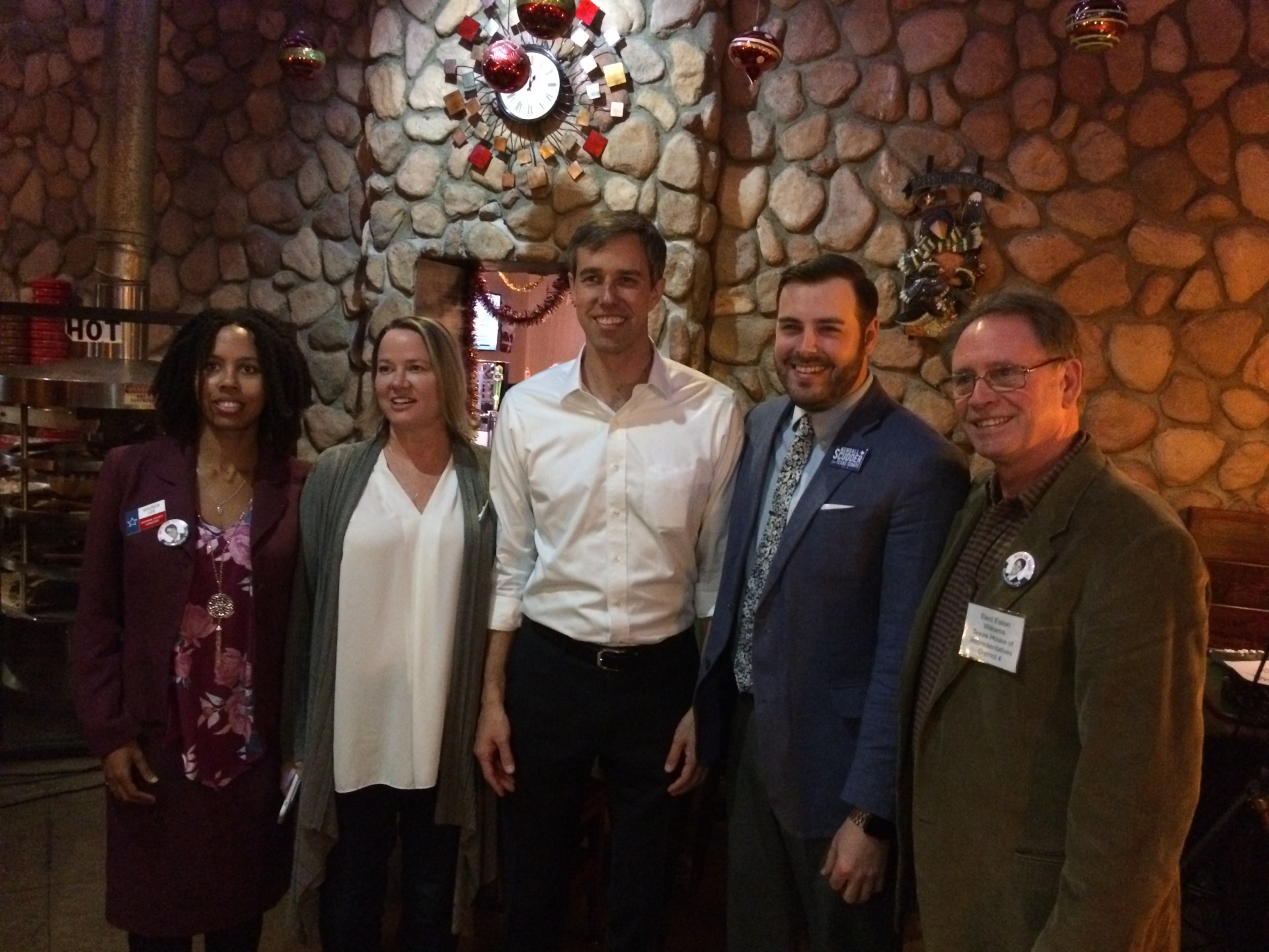 Beto O'Rourke US Senate candidate meets with local candidates
