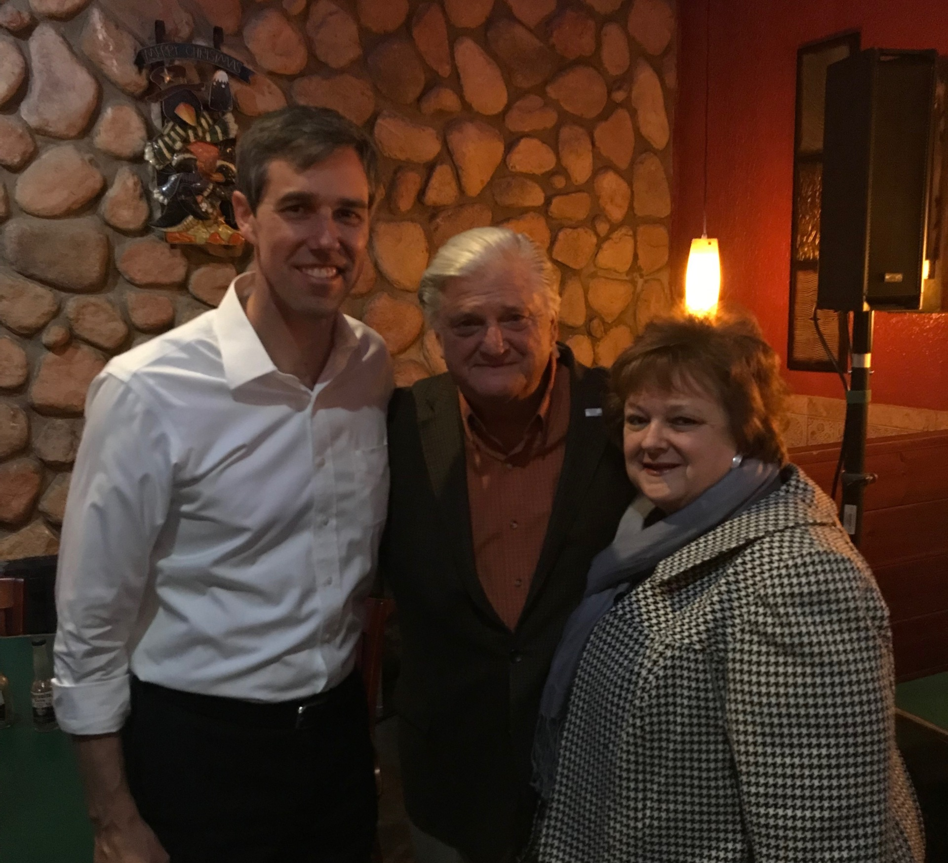 Beto O'Rourke US Senate candidate with Kaufman Co Democrat chair