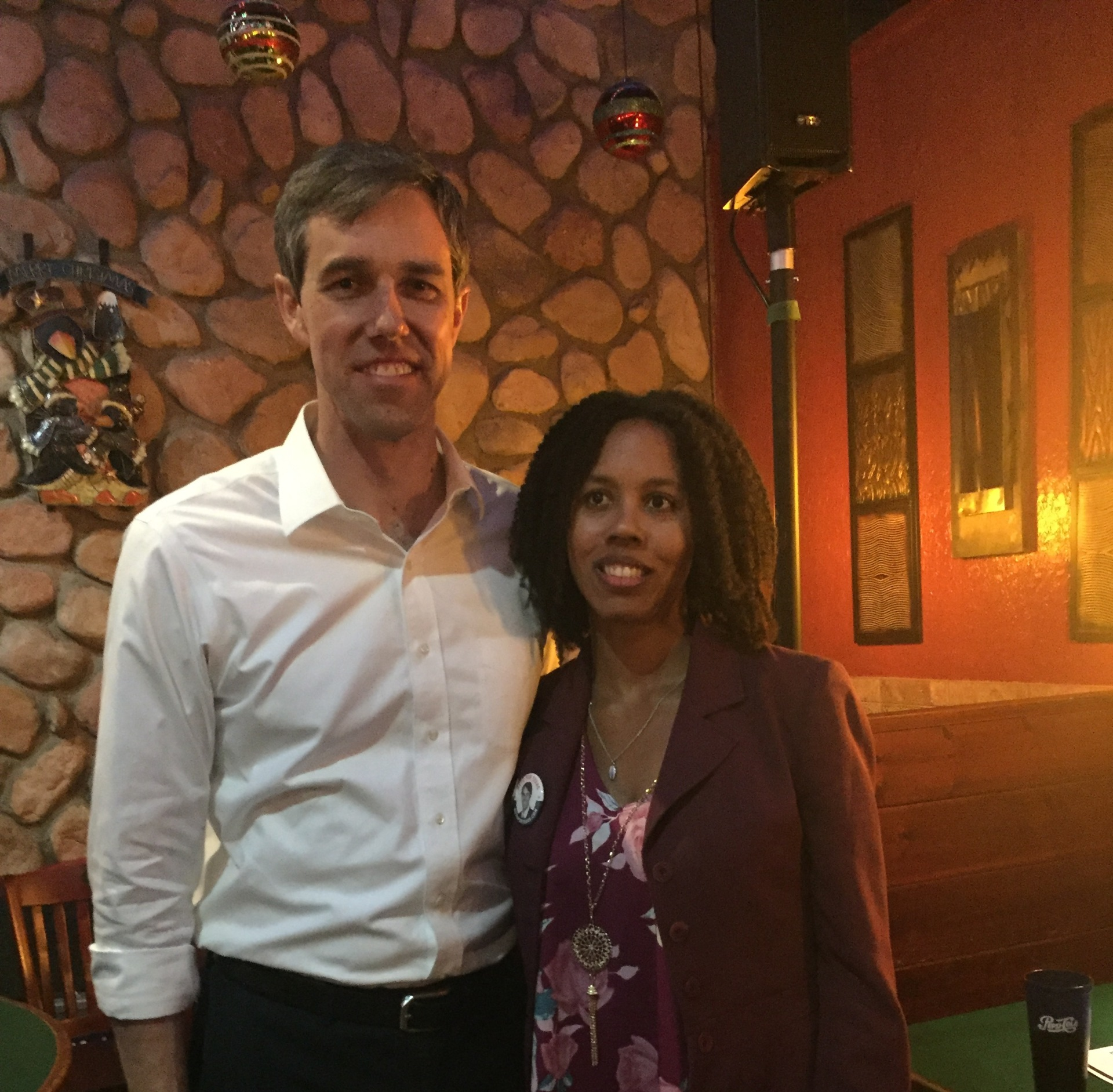 Beto O'Rourke US Senate candidate with Shunda Lee Justice of the Peace Precinct 2 candidate