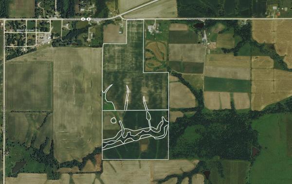 $4,825/ac: 124 acres - Davis County, Iowa