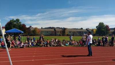Students gearing up for last week's Walk a Thon