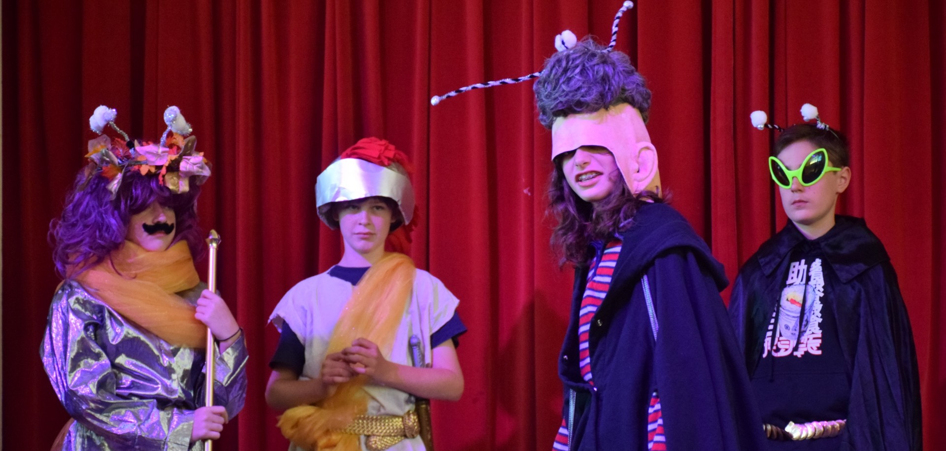 "Sneak peek at the 6th grade play ""Alien Apocalypse"" [click image to see entire picture]"