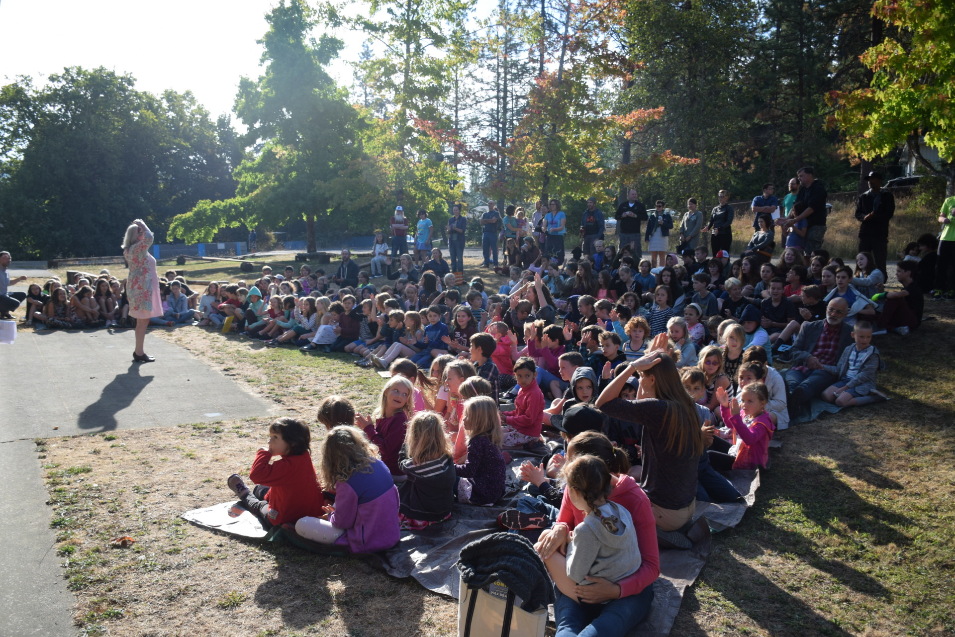 Students gather for the annual Rose Ceremony [click image to see entire picture]