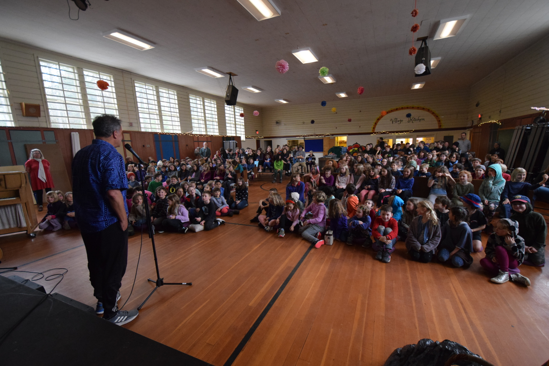 The school gathers for a Kindness Assembly [click image to see entire picture]