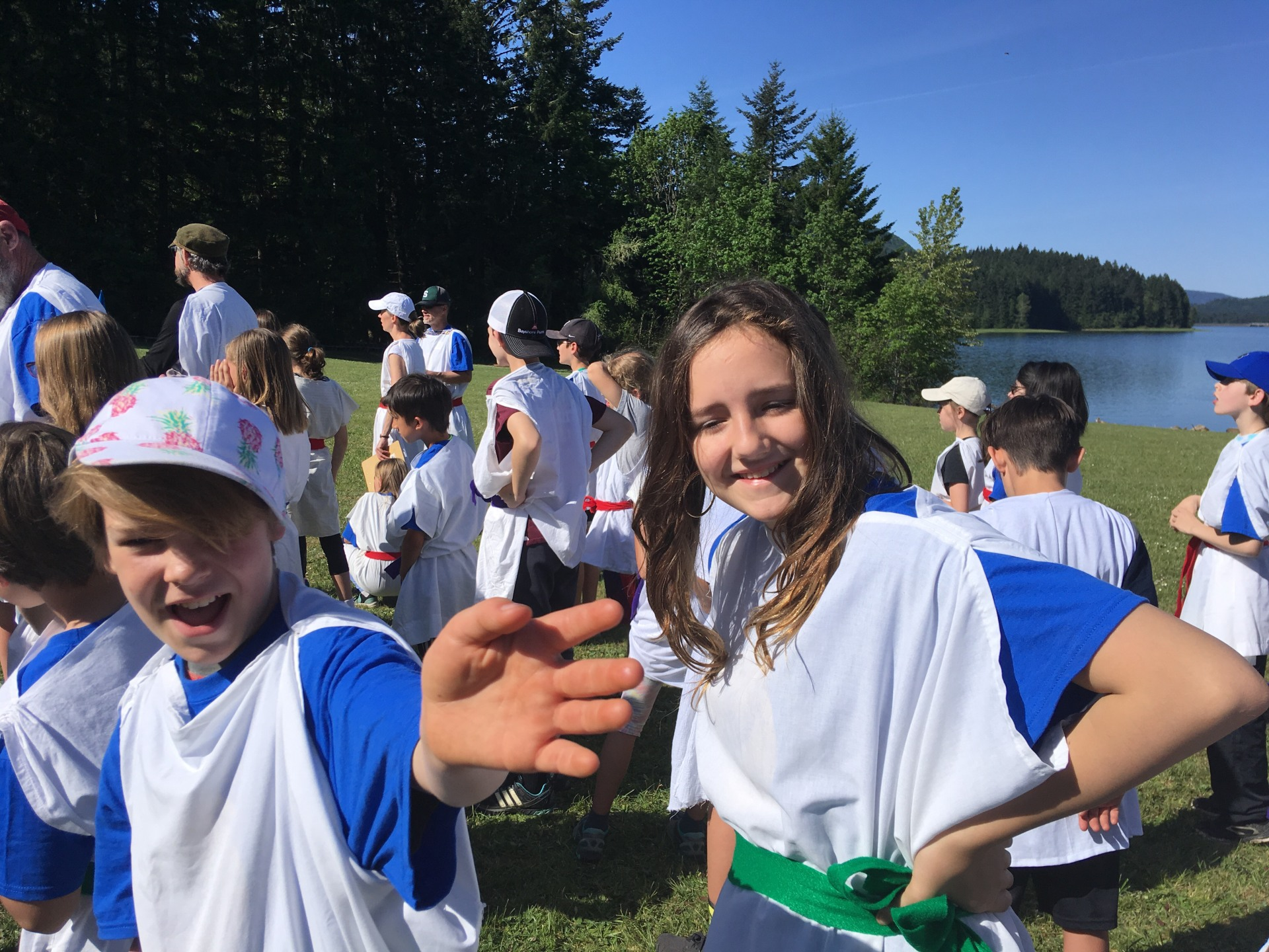 5th graders enjoy their time at Greek Games [click image to see entire picture]
