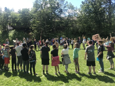 6th graders participate in the Medieval Games [click image to see entire picture]
