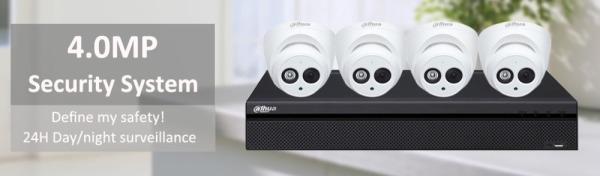 Dahua 4MP IP Camera Kit $599