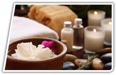 Massage Oil  and Candle