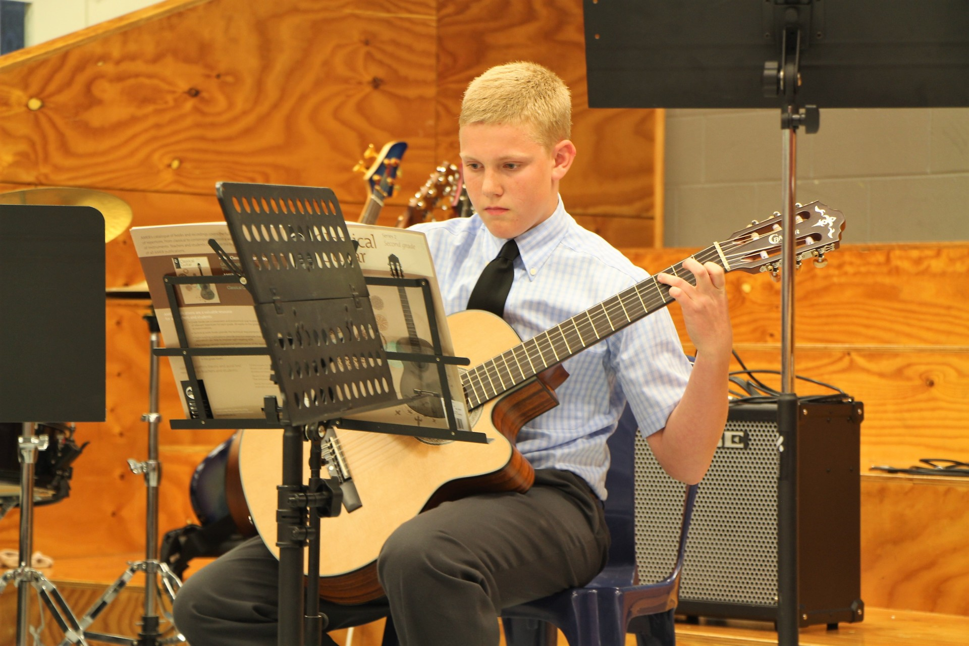 Classical Guitar performance at End of Year Ooncert 2017