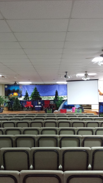 Auditorium ready to go for VBS