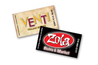 Venti and Zola Sister Restaurants