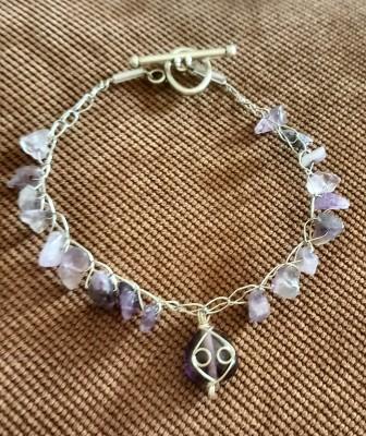 Simple Amethyst Bracelet